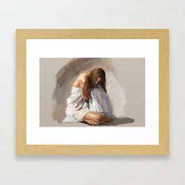 Drapes Framed Art Print