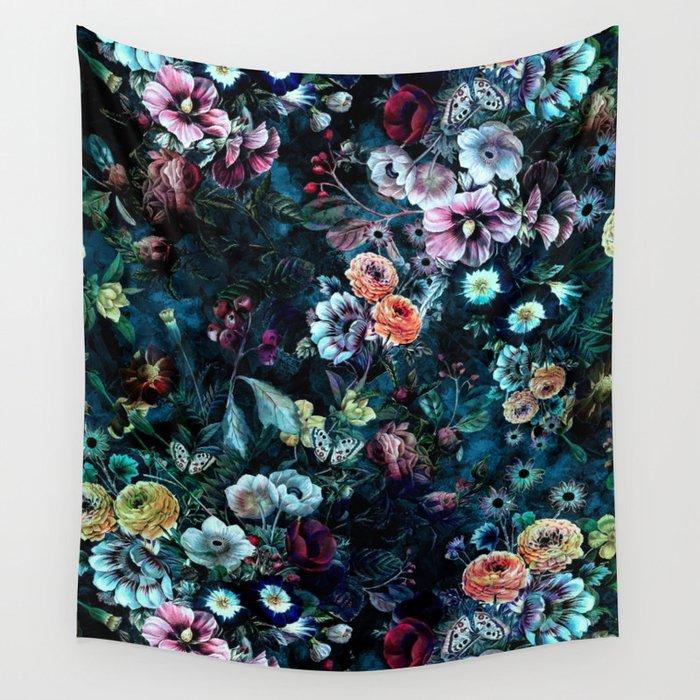 Night Garden Wandbehang