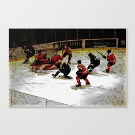The End Zone - Ice Hockey Game Canvas Print