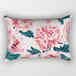 Pattern pink vintage peonies Rectangular Pillow