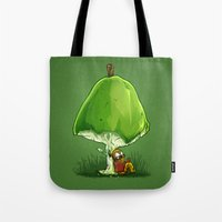 bookworm Tote Bags featuring BookWorm by Alberto Arni