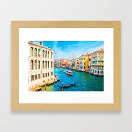 Italy. Venice lazy day Framed Art Print