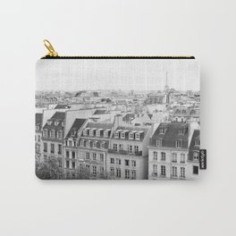 Paris in Black and White, Rooftops Carry-All Pouch