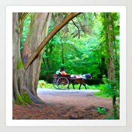 Carriage Ride in Killarney Art Print
