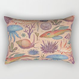 Aequoreus vita II / Marine life II Rectangular Pillow