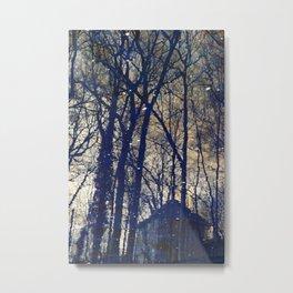 Tree Old House Metal Print
