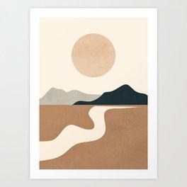 Minimal Abstract Art Landscape 8 Art Print