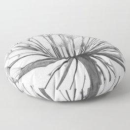Black and White Dandelion Floor Pillow