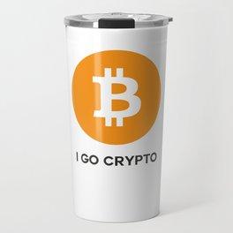 Bitcoin  - I GO CRYPTO Travel Mug