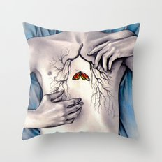 Between Two Lungs Throw Pillow
