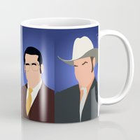 anchorman Mugs featuring News Team Assemble - Anchorman by Tom Storrer