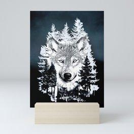 Forest Wolf Art Mini Art Print
