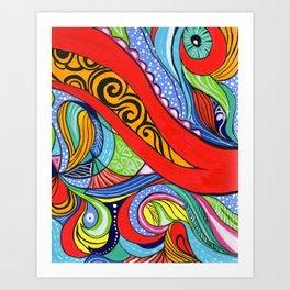 Tentacles 2 Art Print
