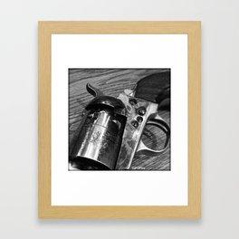 Black Powder Framed Art Print