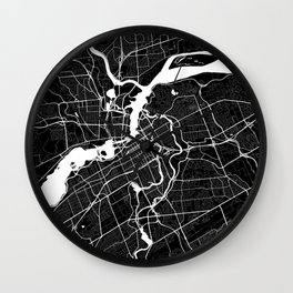 Ottawa - Minimalist City Map Wall Clock