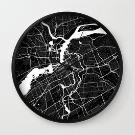 Ottawa - Minimalist City Map Wall Clock