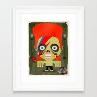david olenick Framed Art Prints featuring david by danvinci