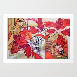 Japanese Autumn Dream Art Print