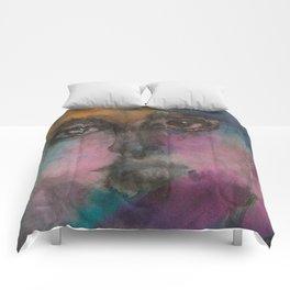 Watercolor Man Comforters