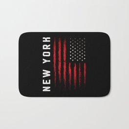 New York American flag Bath Mat