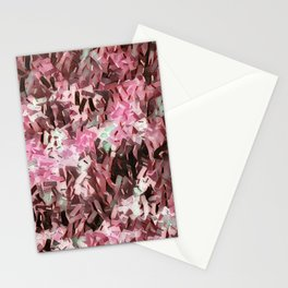 Cranberry Confetti Waves Stationery Cards