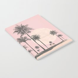 Tropical Sunset In Peach Coral Pastel Colors Notebook