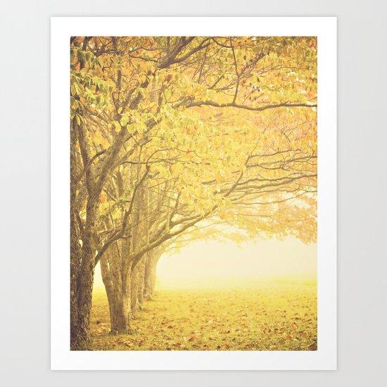 Gold season Art Print