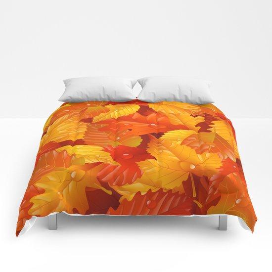 Autumn leaves #2 Comforters