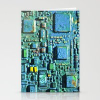 technology Stationery Cards featuring Crowded Technology  by mark jones