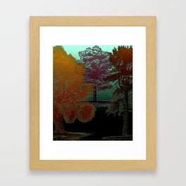 Deep Into The Forest - Trees Design Framed Art Print