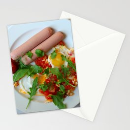 fried eggs Stationery Cards