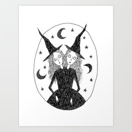 Witch Sisters Art Print