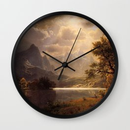 Estes Park Colorado 1869 By Albert Bierstadt | Reproduction Painting Wall Clock