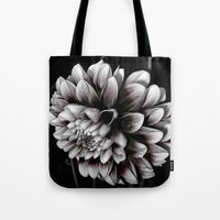 dahlia Tote Bags featuring Dahlia by BavosiPhotoArt