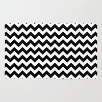 chevron Area & Throw Rugs featuring Chevron (Black/White) by 10813 Apparel