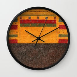 N68 - Oriental Traditional Moroccan Style with Original Leather Cover Artwork Wall Clock