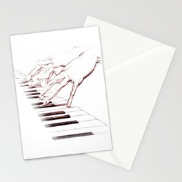 Piano hands Stationery Cards