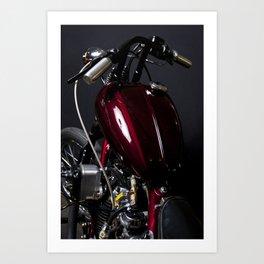 Red Motorcycle #003 Art Print