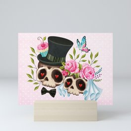 Together Forever - Sugar Skull Bride & Groom Mini Art Print