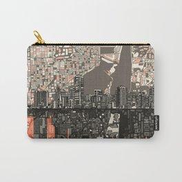 miami city skyline Carry-All Pouch