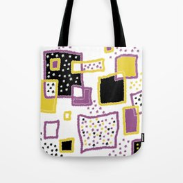 fuzzy rectangles Tote Bag