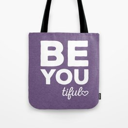 Be-You-Tiful Positive Quote Tote Bag