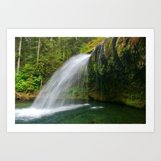 Iron Creek Falls fine art print Art Print