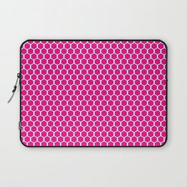 Pink and White Honeycomb Laptop Sleeve
