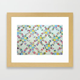 Colorful quilt pattern Framed Art Print