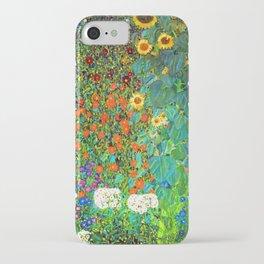Gustav Klimt Garden with Sunflowers iPhone Case
