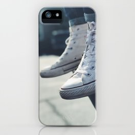 All White Chucks iPhone Case