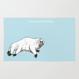 The majestic water bear Rug