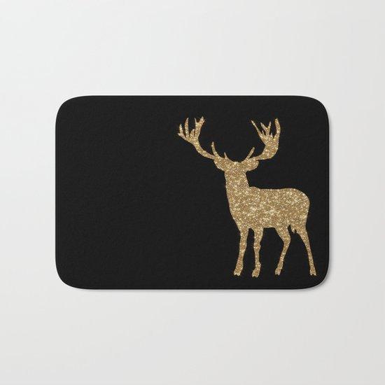 Sparkling golden deer - Wild Animal Animals on #Society6 Bath Mat