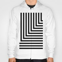Black and White L Stripes // www.pencilmeinstationery.com Hoody